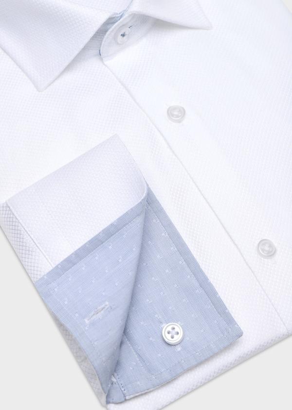 Chemise habillée Regular en coton façonné uni blanc - Father and Sons 34132