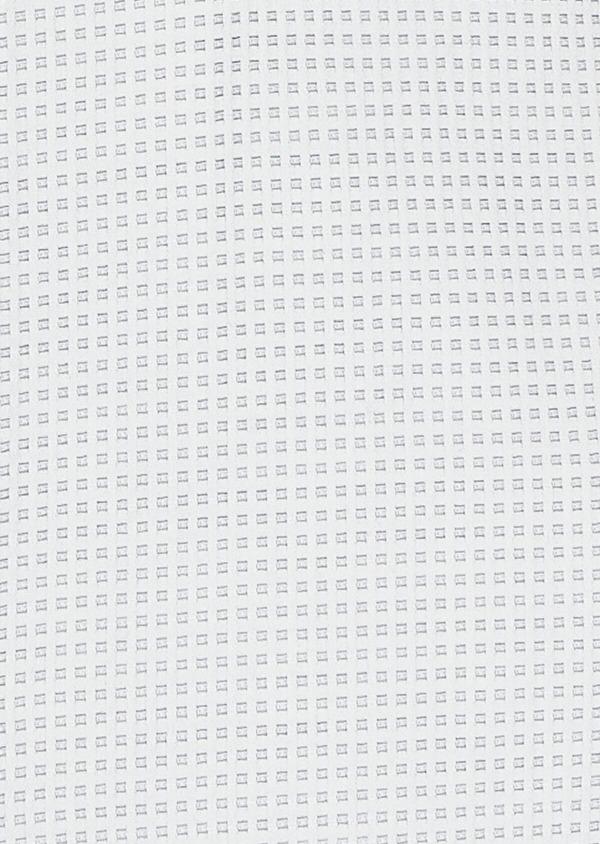 Chemise habillée Regular en satin gris à motif fantaisie - Father and Sons 32383