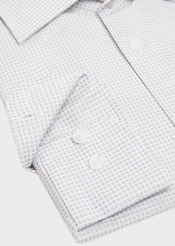 Chemise habillée Regular en satin gris à motif fantaisie - Father and Sons 32385