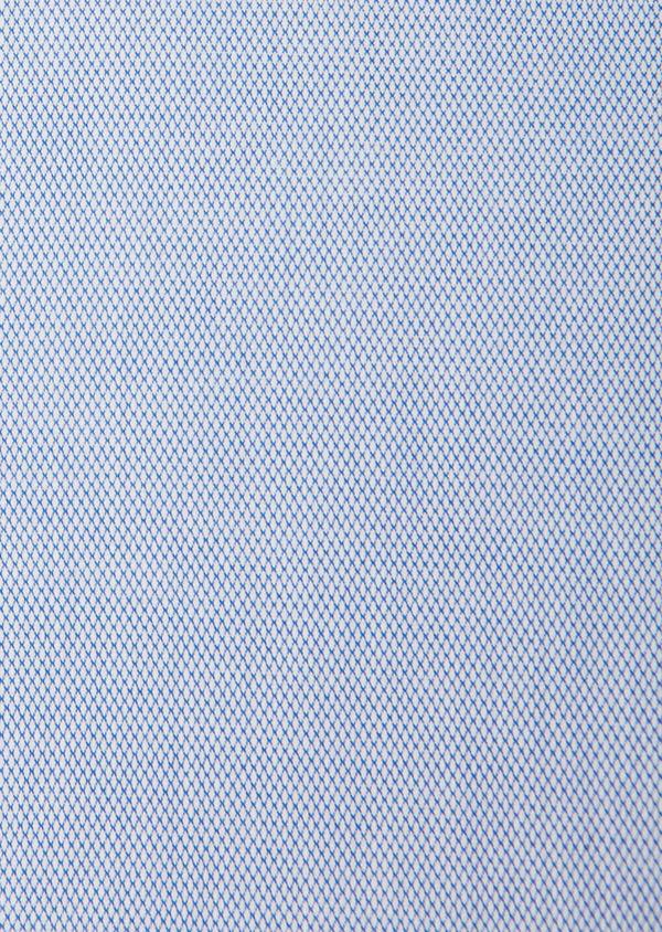 Chemise habillée Slim en coton à motif fantaisie bleu azur - Father and Sons 31724