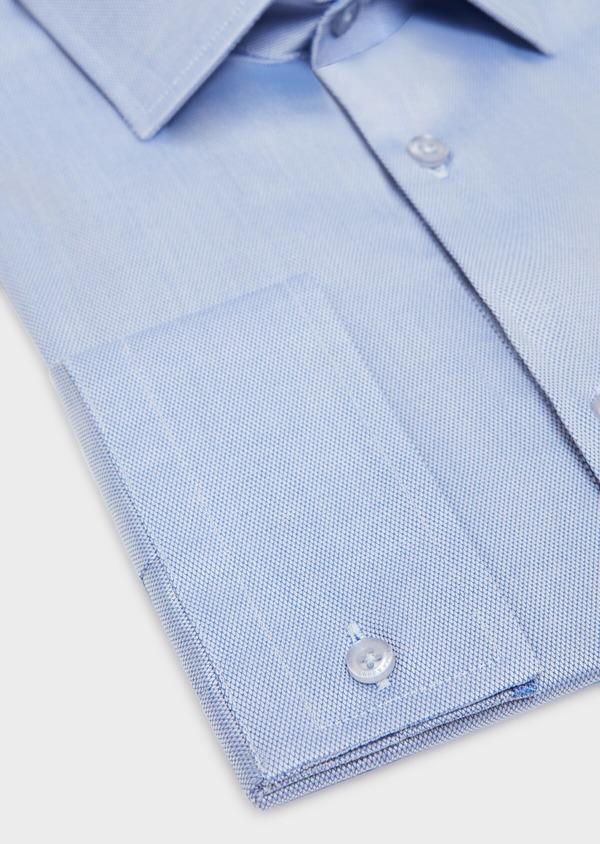Chemise habillée Slim en coton à motif fantaisie bleu azur - Father and Sons 31726