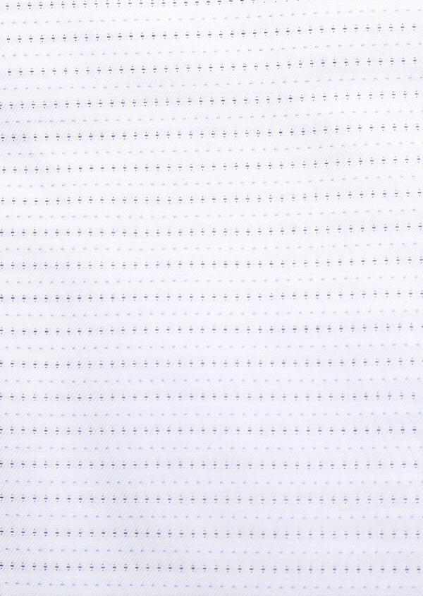 Chemise habillée Slim en coton Jacquard blanc à motif fantaisie - Father and Sons 32311