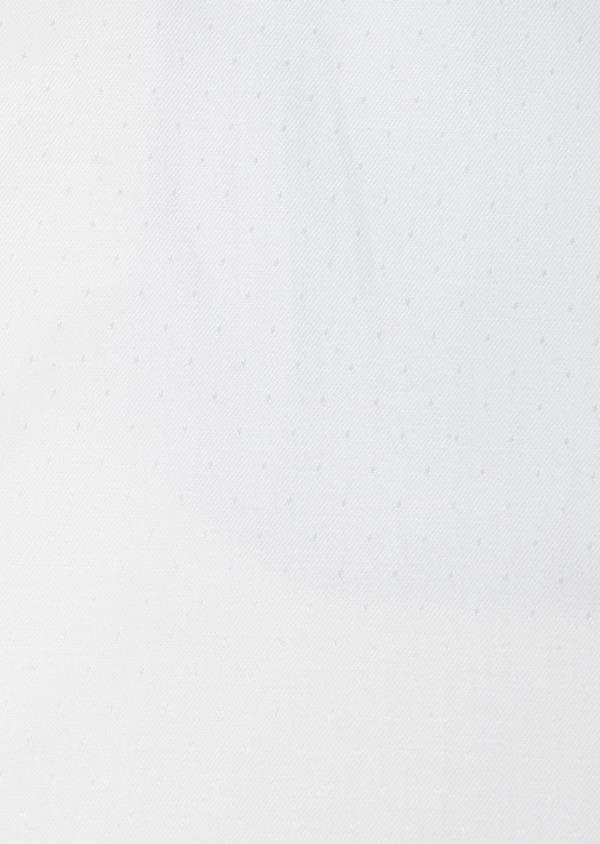 Chemise habillée Slim en coton façonné blanc à motif fantaisie - Father and Sons 27567