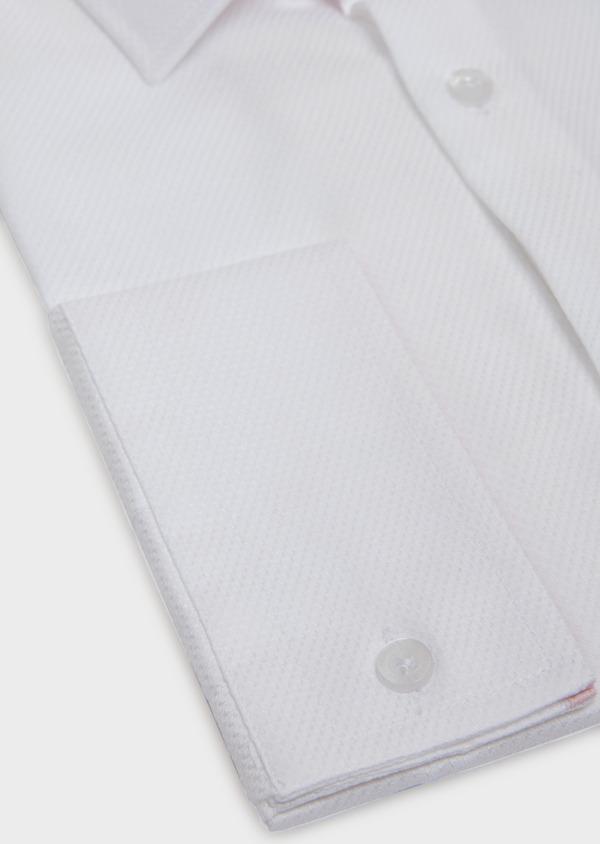 Chemise habillée Slim en coton façonné à motif fantaisie blanc - Father and Sons 31706