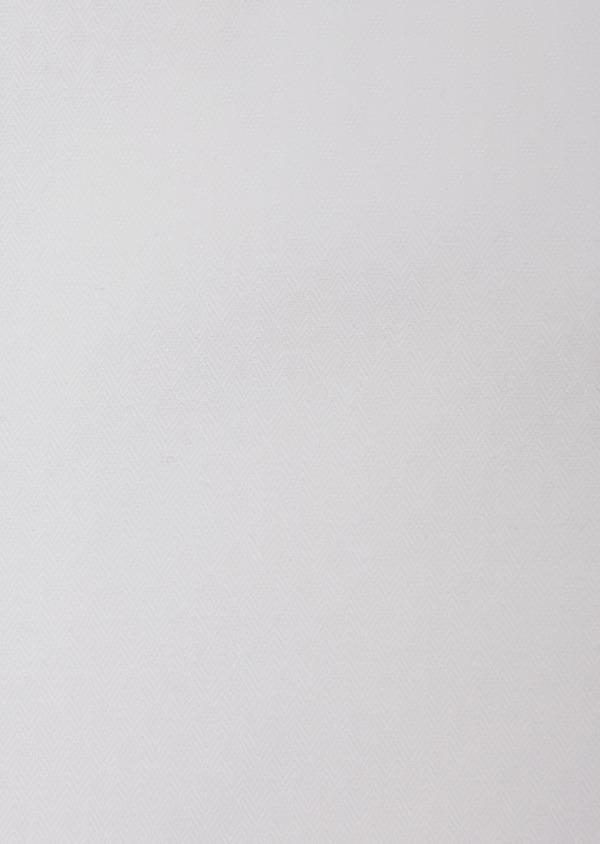 Chemise habillée Slim en coton façonné à motif fantaisie blanc - Father and Sons 31714
