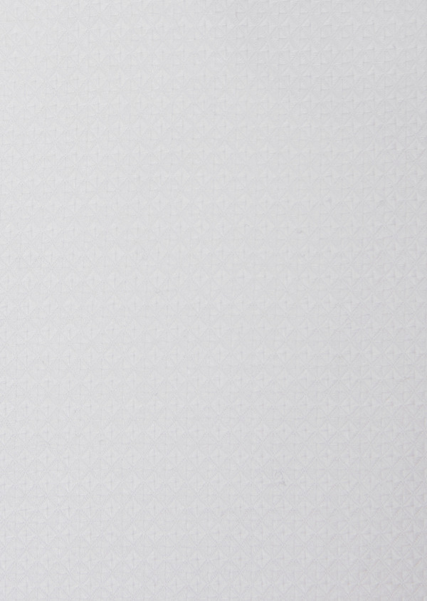 Chemise habillée Slim en coton façonné à motif fantaisie blanc - Father and Sons 31734