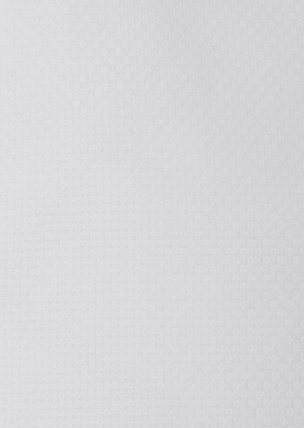 Chemise habillée Slim en coton façonné à motif fantaisie blanc - Father and Sons 31744