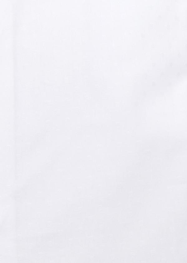 Chemise habillée Slim en coton façonné uni blanc à pois ton-sur-ton - Father and Sons 32451