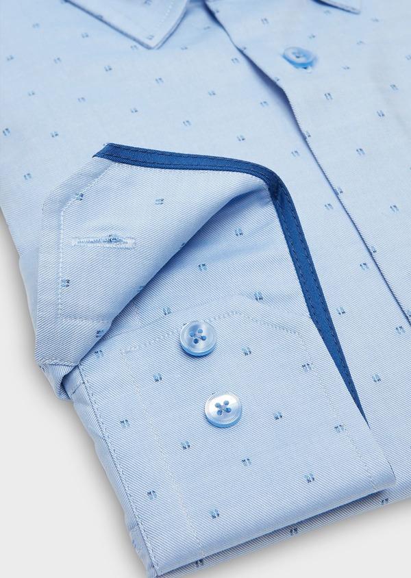 Chemise habillée Slim Oxford à motif fantaisie azur - Father and Sons 26130