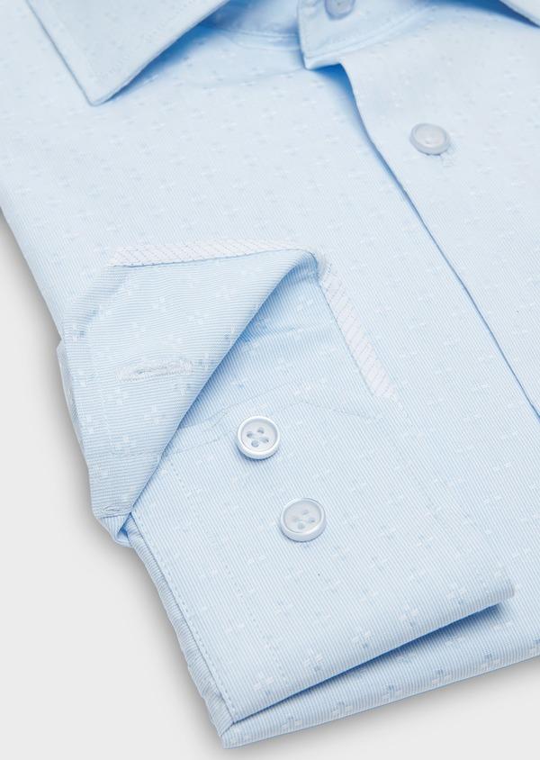 Chemise habillée Slim en coton Oxford ciel à motif fantaisie - Father and Sons 26191