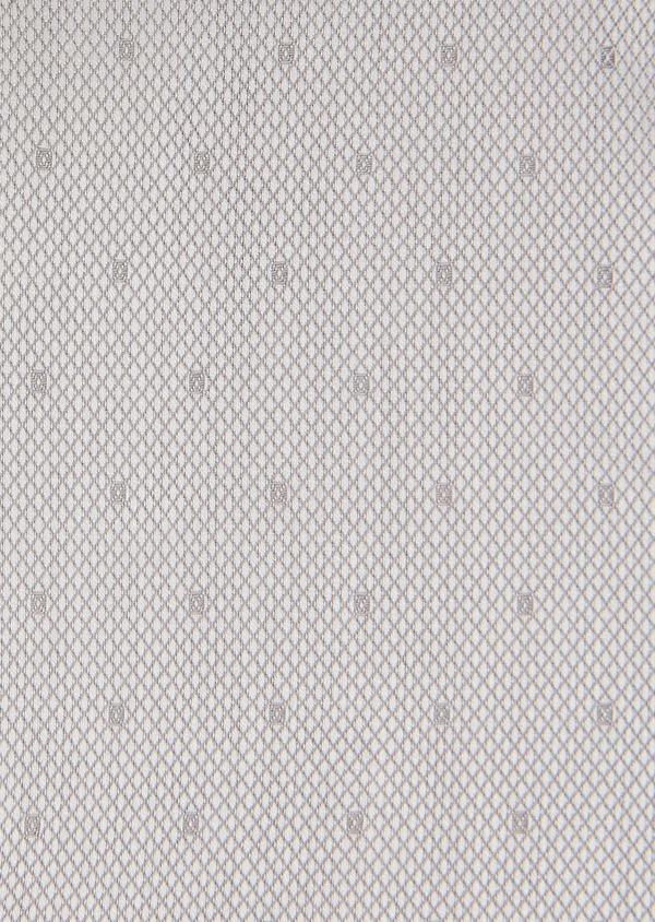 Chemise habillée Slim en coton façonné gris perle à motif fantaisie - Father and Sons 26149
