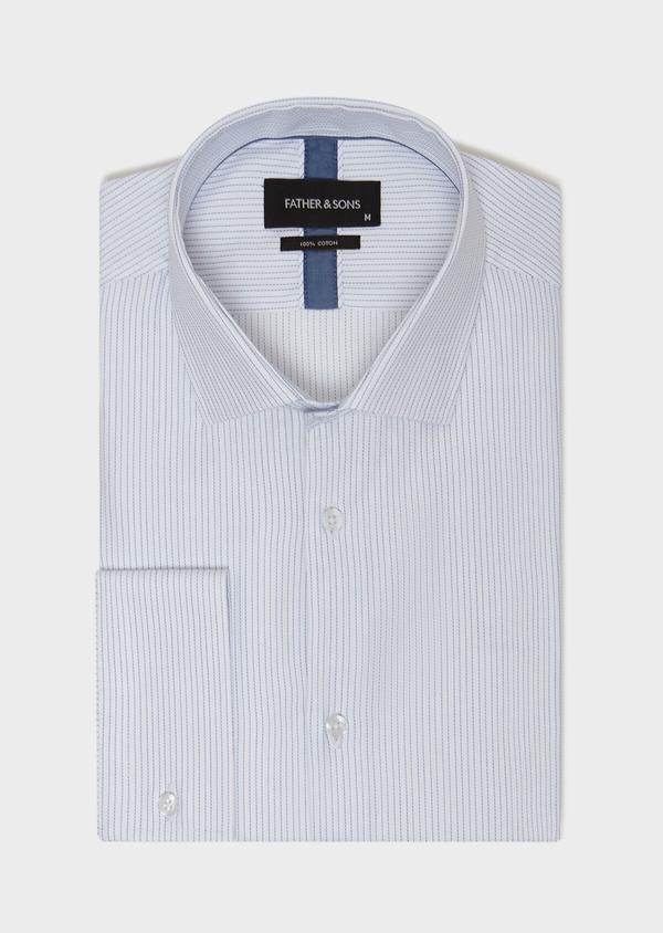 Chemise habillée Slim en coton à motifs géométriques chambray - Father and Sons 31763