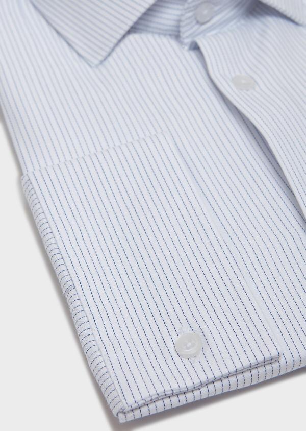 Chemise habillée Slim en coton à motifs géométriques chambray - Father and Sons 31766