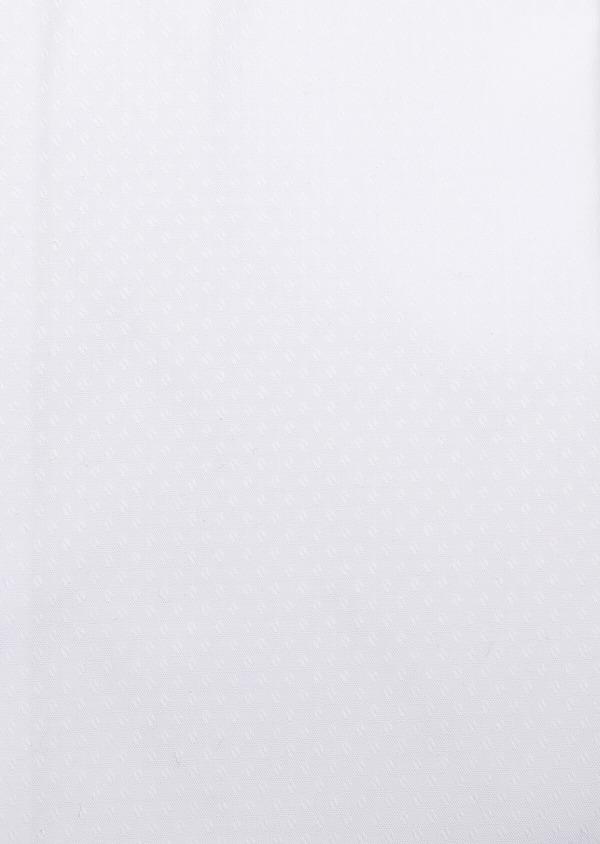 Chemise habillée Slim en coton façonné blanc à motif fantaisie ton-sur-ton - Father and Sons 32359