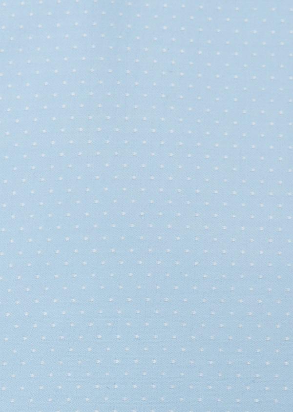 Chemise habillée Slim en coton sergé à pois azur - Father and Sons 26121