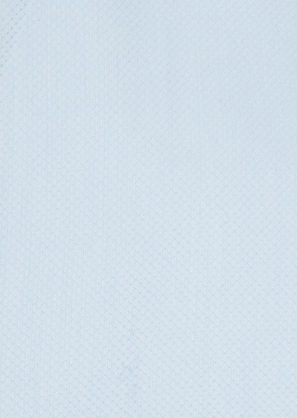 Chemise habillée Slim en popeline de coton bleu ciel à pois ton-sur-ton - Father and Sons 32335