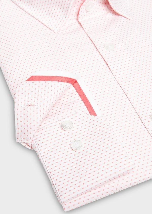 Chemise habillée Slim en popeline de coton à pois rose - Father and Sons 27527