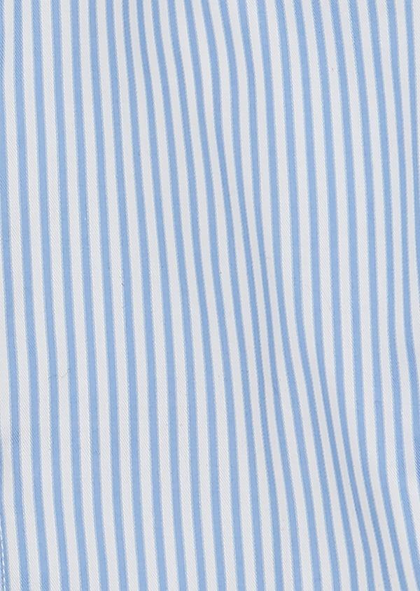 Chemise habillée Slim en popeline de coton à rayures bleu azur - Father and Sons 26076