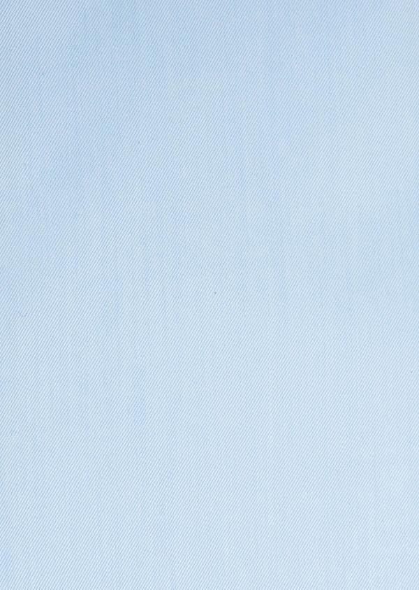 Chemise habillée Slim en twill de coton uni bleu ciel - Father and Sons 32459