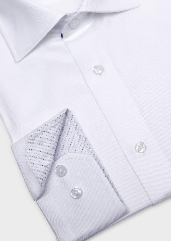 Chemise habillée Slim en coton façonné uni blanc - Father and Sons 32309