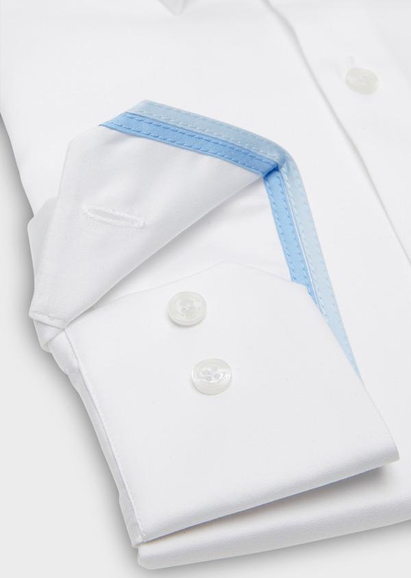Chemise habillée Slim en satin blanc uni - Father and Sons 26137
