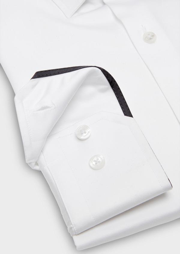 Chemise habillée Slim en satin blanc uni - Father and Sons 26170