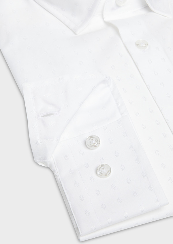 Chemise habillée Slim en satin uni blanc - Father and Sons 27555