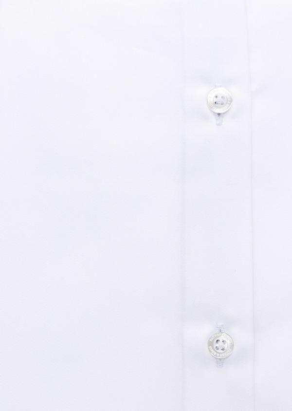 Chemise habillée Slim en popeline de coton uni blanc - Father and Sons 28615
