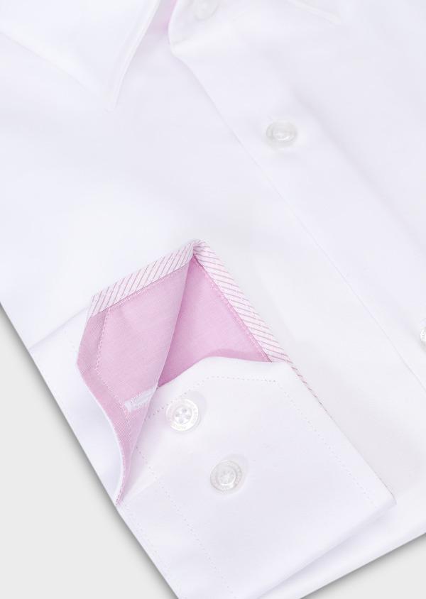 Chemise habillée Slim en popeline de coton uni blanc - Father and Sons 28617