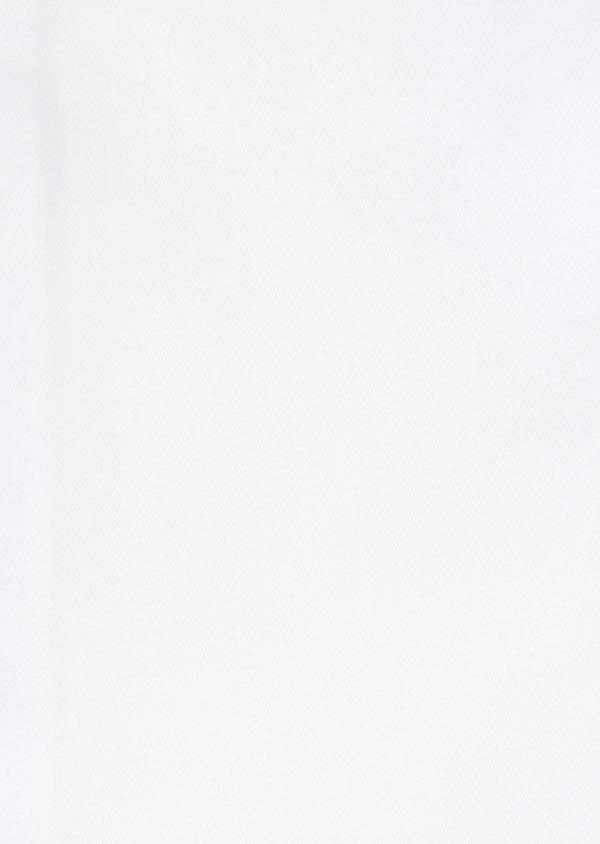 Chemise habillée Slim unie en satin de coton blanc - Father and Sons 32347