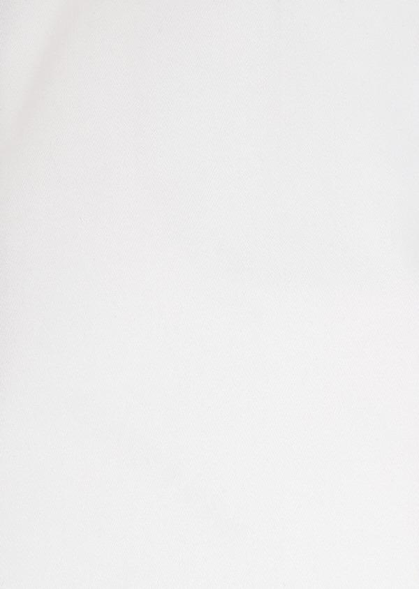 Chemise habillée Slim uni en satin de coton blanc - Father and Sons 32375