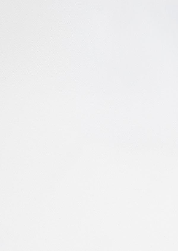 Chemise habillée Slim en satin de coton uni blanc à poignets mousquetaires - Father and Sons 32387