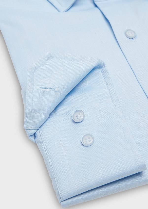 Chemise habillée Slim en coton Oxford bleu ciel uni - Father and Sons 26184