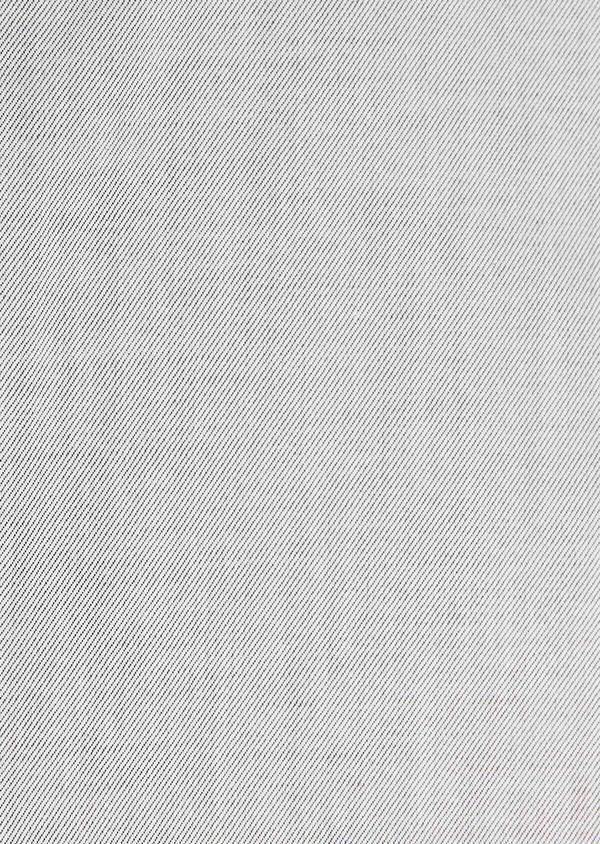 Chemise habillée Slim en twill de coton uni gris - Father and Sons 32367
