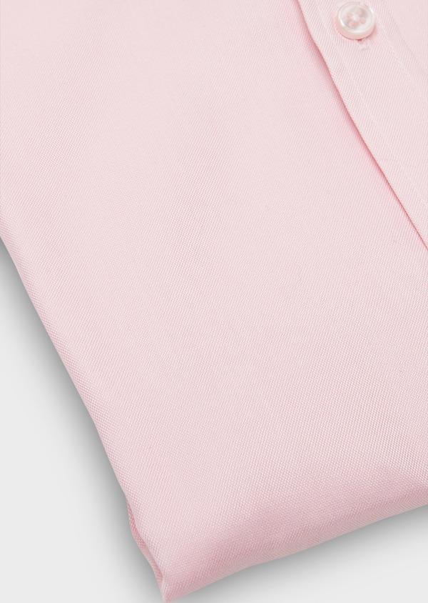 Chemise habillée Slim en coton Oxford uni rose - Father and Sons 26052