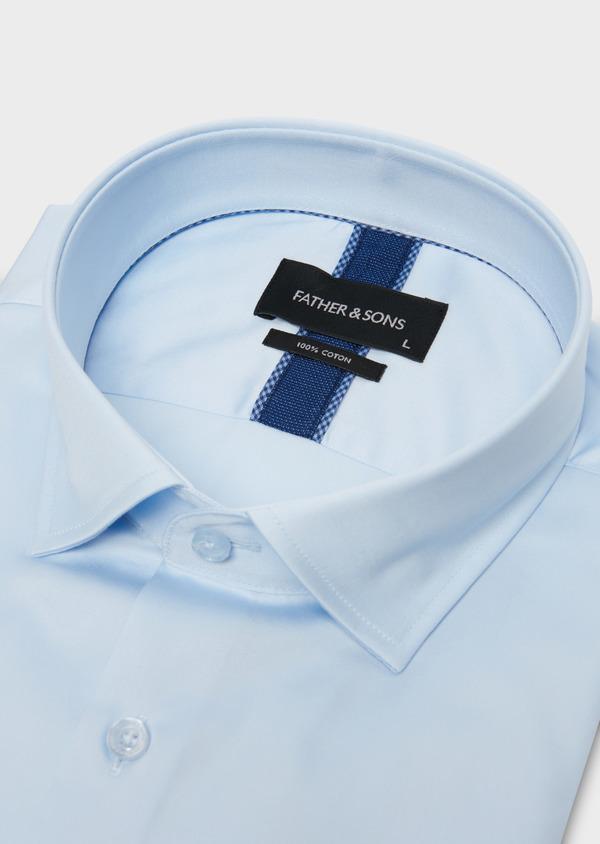 Chemise manches courtes Slim en coton tissé jacquard à motifs - Father and Sons 18229