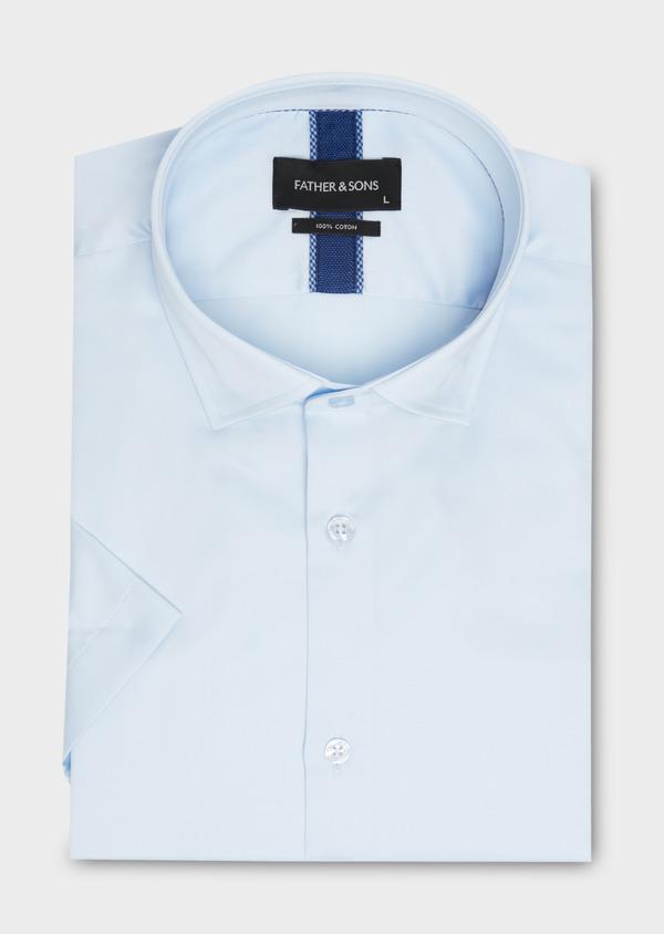 Chemise manches courtes Slim en coton tissé jacquard à motifs - Father and Sons 18227