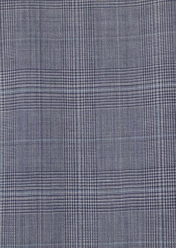Costume 2 pièces Regular en laine bleu gris Prince de Galles - Father and Sons 32670