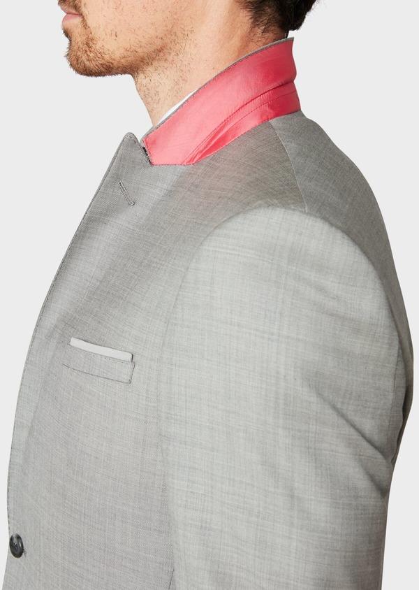 Costume 2 pièces Regular en laine unie gris clair - Father and Sons 32701