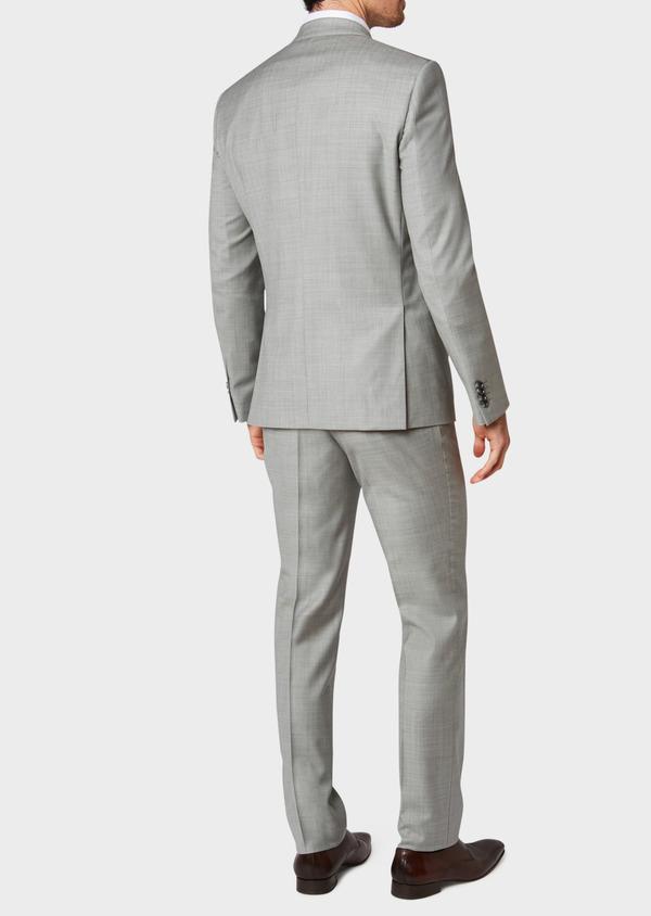 Costume 2 pièces Regular en laine unie gris clair - Father and Sons 32700