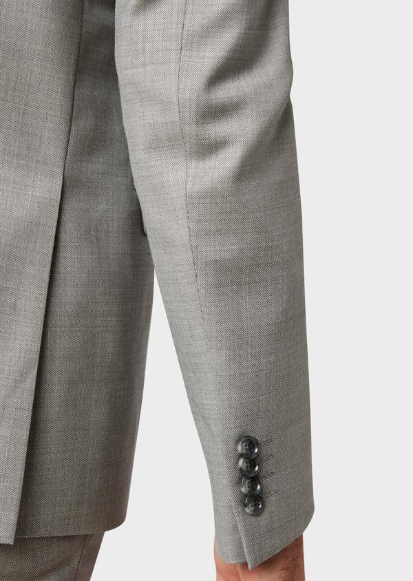 Costume 2 pièces Regular en laine unie gris clair - Father and Sons 32702
