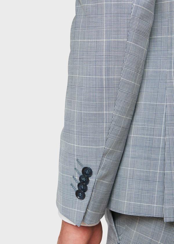 Costume 2 pièces Slim en laine bleu ciel à carreaux - Father and Sons 32625