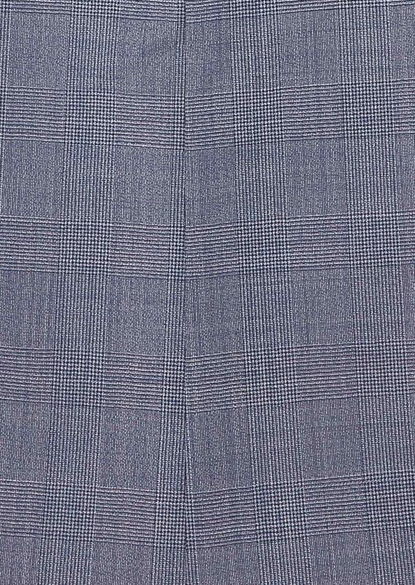 Costume 2 pièces Slim en laine bleu chambray Prince de Galles - Father and Sons 32733