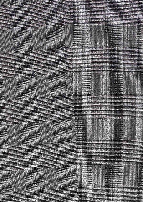 Costume 2 pièces Slim en laine stretch grise Prince de Galles - Father and Sons 32684