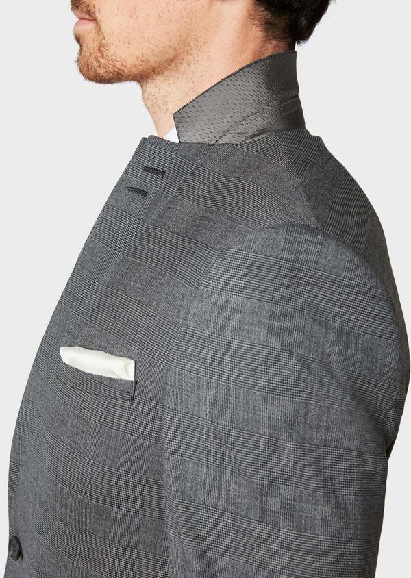 Costume 2 pièces Slim en laine stretch grise Prince de Galles - Father and Sons 32687