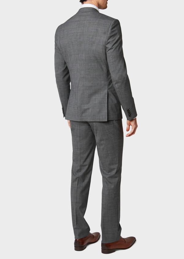 Costume 2 pièces Slim en laine stretch grise Prince de Galles - Father and Sons 32686