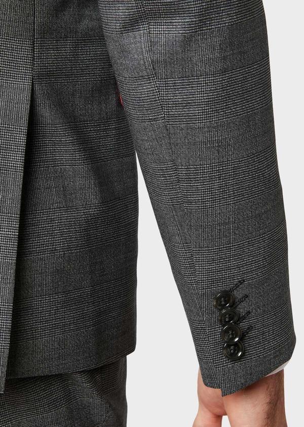 Costume 2 pièces Slim en laine stretch grise Prince de Galles - Father and Sons 32688