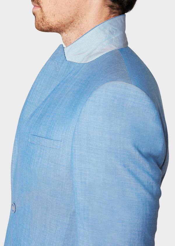 Costume 2 pièces Slim en laine unie bleu azur - Father and Sons 32773