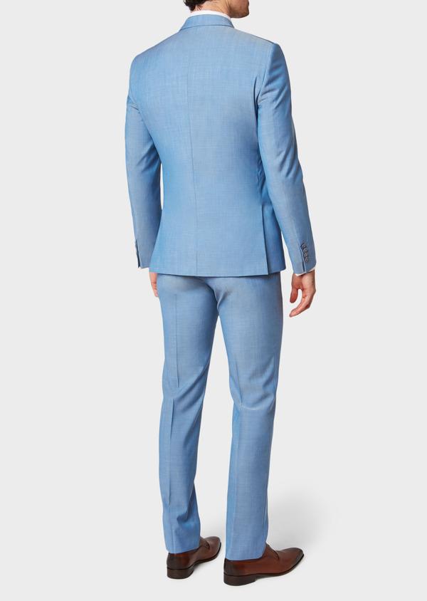 Costume 2 pièces Slim en laine unie bleu azur - Father and Sons 32772