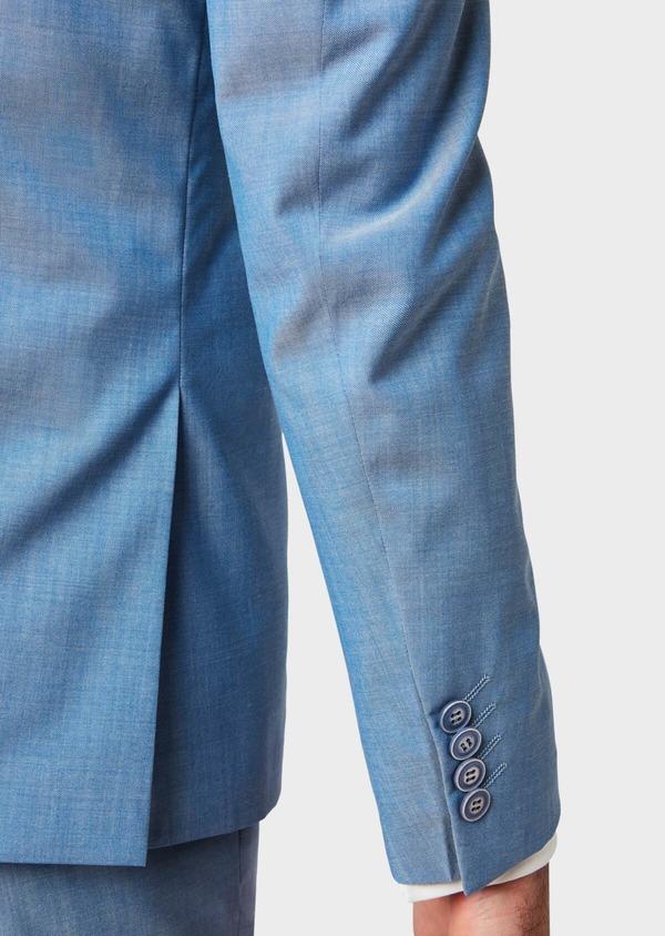 Costume 2 pièces Slim en laine unie bleu azur - Father and Sons 32774